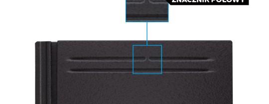 Dachówka płaska KAPSTADT ze znacznikiem połowy – ułatwienie w zakresie montażu na mijankę